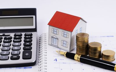 電卓と家の図
