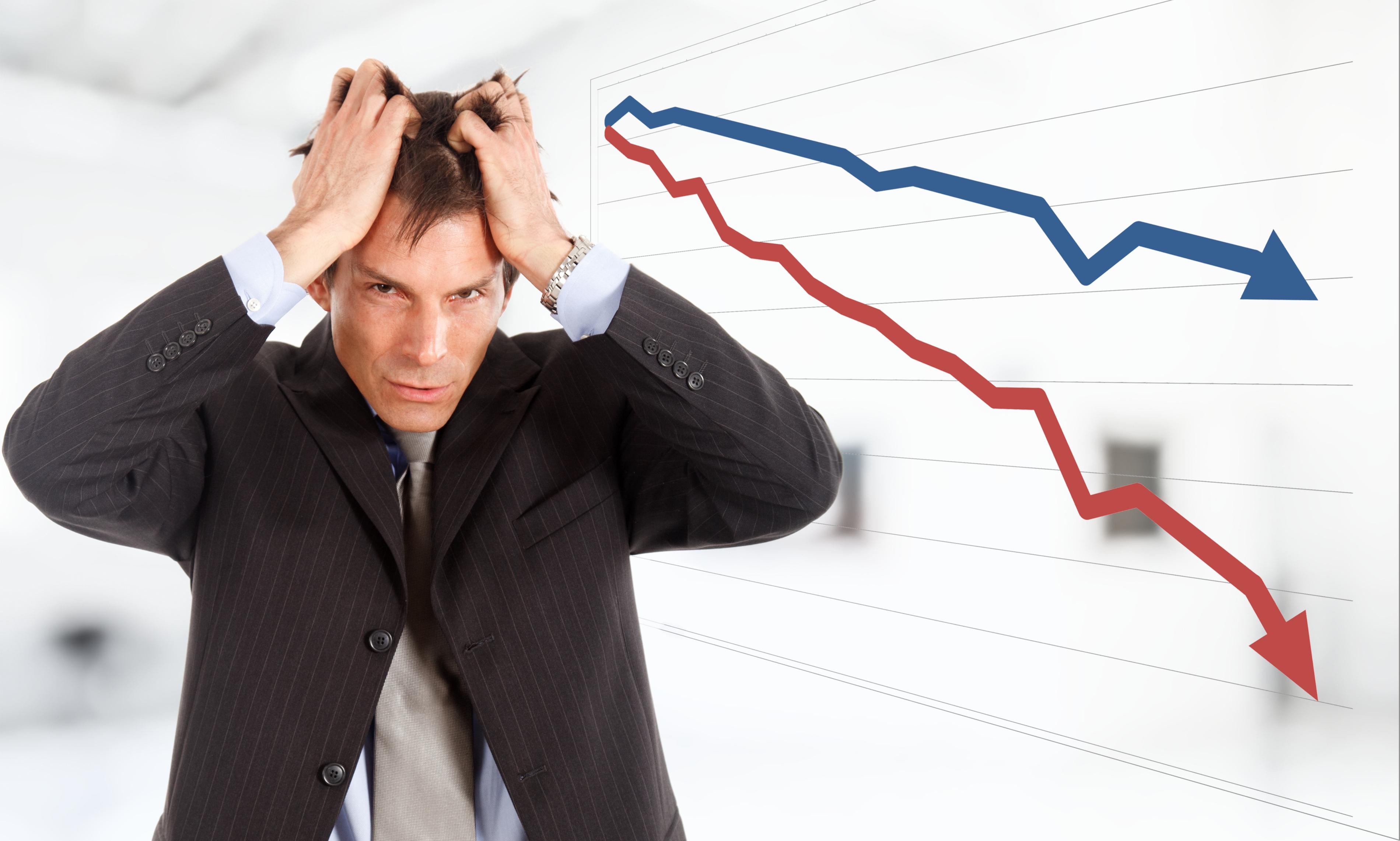 株で失敗する人のイメージ画像
