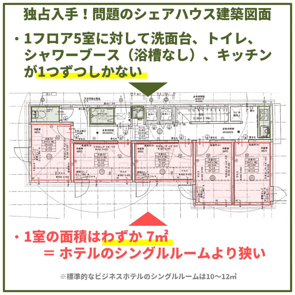 シェアハウスの建築図面